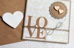 kartka ślubna lub miłosna :: LOVE :: beige