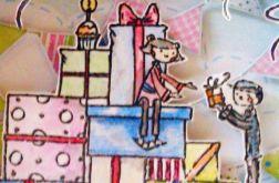 Kartka urodzinowa - góra prezentów