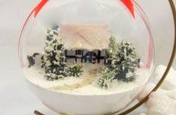 Bombka świąteczna rękodzieło zima
