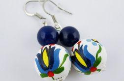 Kolczyki Kaszubskie niebiesko-białe