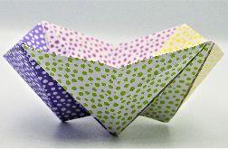 Geometryczna miseczka origami kolorowe kropki