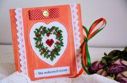 Kartka haft - Moc serdecznych życzeń ( 2 )