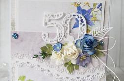"""Kartka urodzinowa """"50"""""""