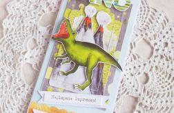 Kartka urodzinowa DL z Dinozaurem 1 GOTOWA