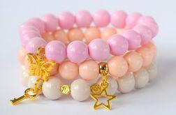 zestaw bransoletek koraliki pastelowa gwiazda
