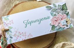 Zaproszenie w stylu vochera na ślub komunię