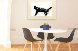 30x40 -plakat z kotem na kremowym tle