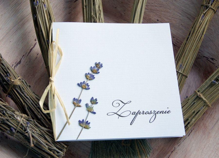 Prowansalskie zaproszenia ślubne - ślub w stylu prowansalskim