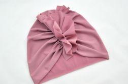 Turban, czapka brudny róż