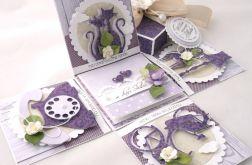 Pudełko na ślub Purple Rain