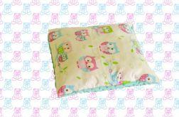 Poszewka na poduszkę MINKY + bawełna sowy