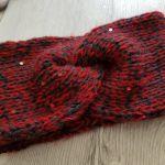 Gruba opaska, handmade, turban, melanż. - opaska - turban