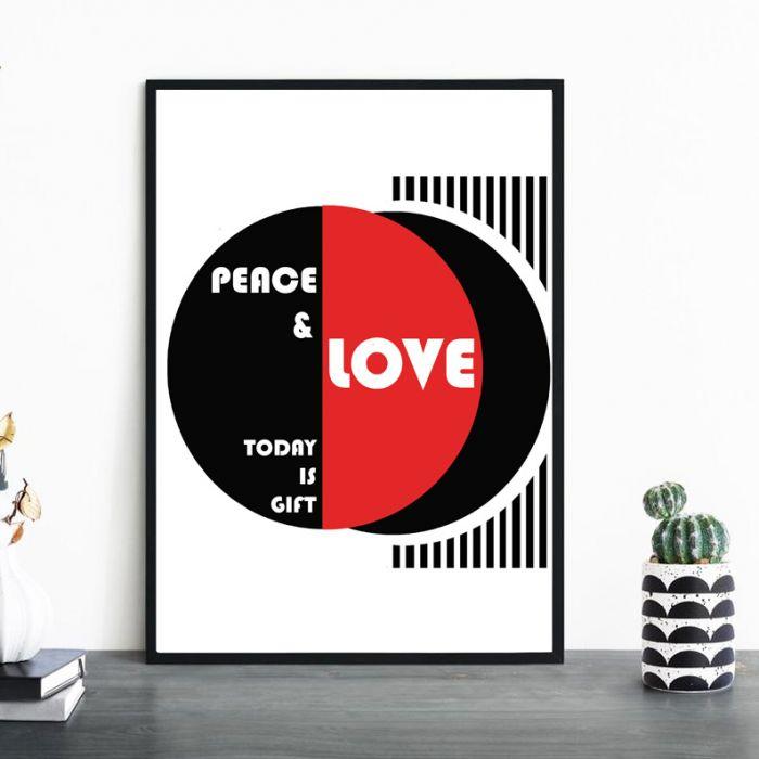 Plakat Peace&Love