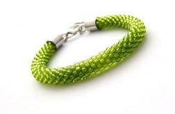 Bransoletka wąż zielona1