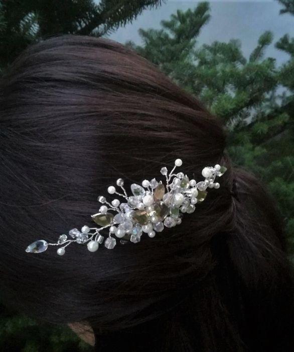 Ozdoba ślubna do włosów grzebyk ALESSIA