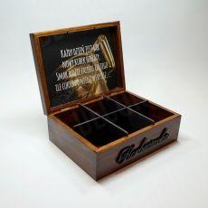 HERBACIARKA, pudełko na herbatę 6 przegródek