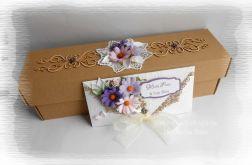 Eko pudełko i kopertówka z margarytkami