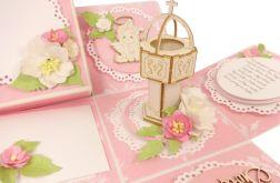 #627 EXPLODING BOX - na Chrzest - różowy