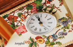 Zegar stojący retro vintage kwiaty