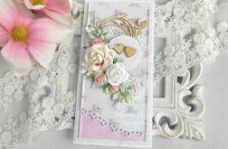 Ślubna kartka DL w pudełku 128