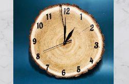 Zegar z plastra drewna - dąb (CUDA Z DREWNA)