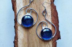 Kolczyki Zawijas Tiffany niebieski