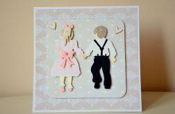 Kartka ślubna- dzieci