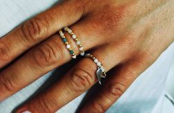 Zestaw 3 pierścionków Jadeit biały - model 4