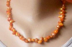 1750. Naszyjnik z pereł słodkowodnych
