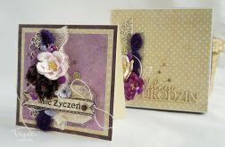 Kartka urodzinowa - w fioletach