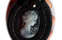 dusik medalion - czarna dama kamea sutasz