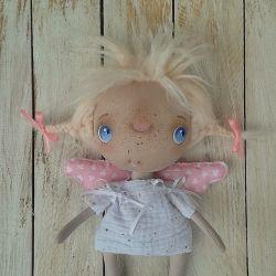ANIOŁEK lalka tekstylna, cute angel 9, OOAK