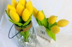Żółte tulipany bawełniane