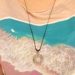 Mandala regulowany wisiorek - naszyjnik z mandalą