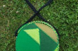 Torebka okrągła- patchwork
