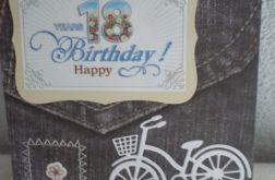 Na rowerze - kartka na 18 urodziny