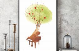 Zaczarowany Fortepian... art print A4