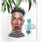 Ręcznie malowana koszulka Drag Queen S Couleé