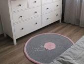 Zestaw koszyczek i dywan ze sznurka bawełnianego