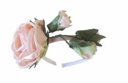 Opaska fascynator róże