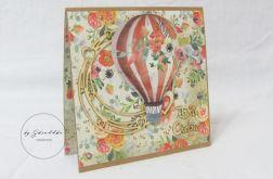 Z balonem - kartka okolicznościowa