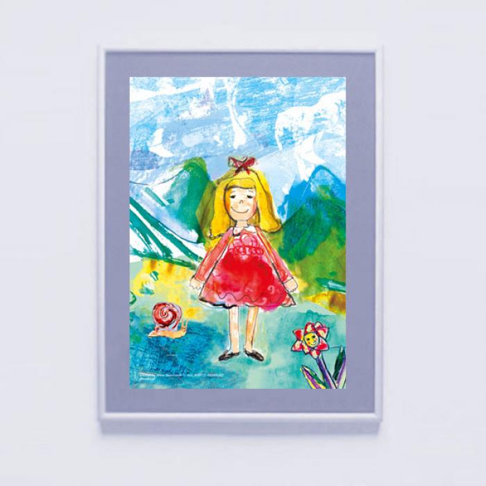 Ładny obrazek do pokoju dziewczynki plakat