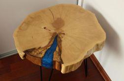 Stolik kawowy drewniany grab żywica