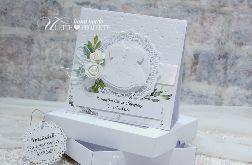 Pamiątka chrztu świętego kartka w pudełku