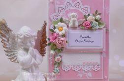 Pamiątka chrztu w pudełku róż #7