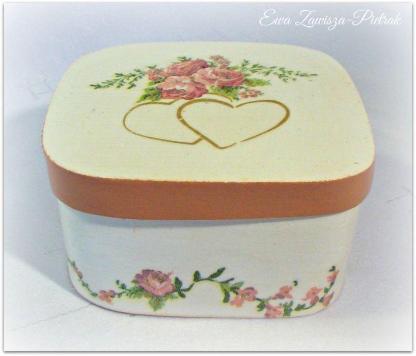 Pudełko prostokątne ślub