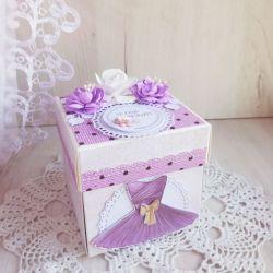 Exploding box urodzinowy z baletnicą GOTOWY
