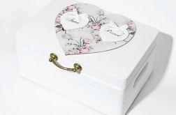 Ślubne pudełko na koperty Serce Vintage