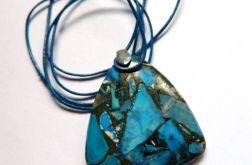 Turkus z pirytem, oryginalny kamień, srebro