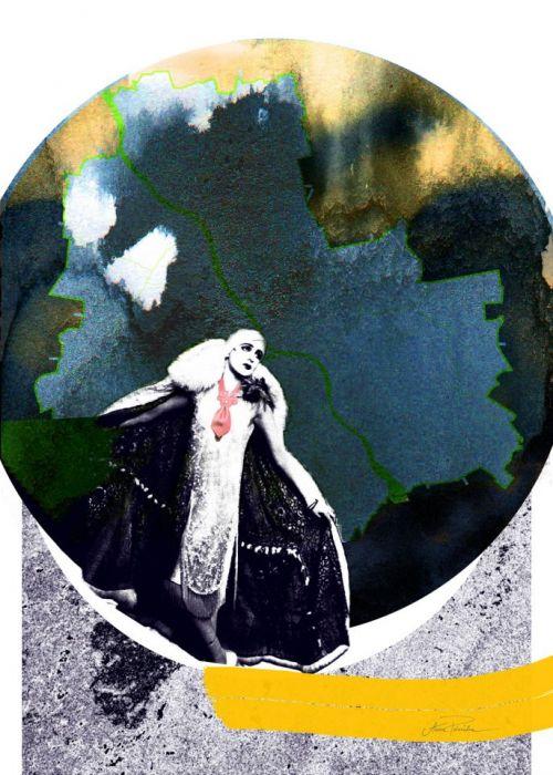 Dama z Tie art, autorski plakat, sygnowany -